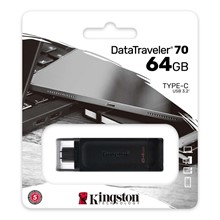 Kingston 64Gb Dt70 Data Traveler Type C Dt70/64Gb - 1